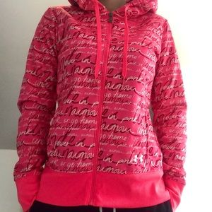 Under Armour Pink Breast Cancer Zip Hoodie
